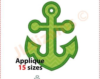 Anchor Applique Design. Anchor embroidery design. Embroidery design anchor. Anchor applique. Nautical embroidery. Machine embroidery design