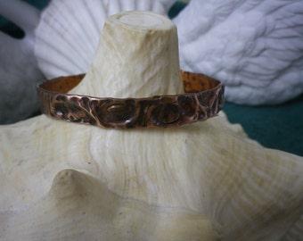 Small Textured Copper Cuff