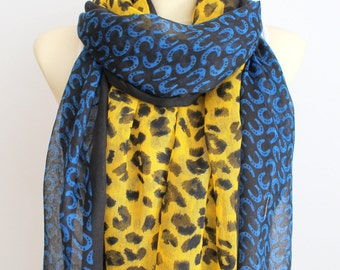 Leopard Scarf - Animal Print Scarf - Leopard Fabric Scarf - Unique Fashion Scarf - Boho Gift Idea for Women - Fashion Accessories - Autumn