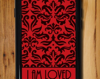 Red and Black iPhone 6s Case, Love iPhone 5 case, Retro iPhone 5c case, iPhone 6 case, Vintage iPhone 6 plus case,