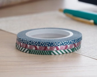 MT Washi Tape MT Slim 3mm Dull Tone | Japanese Masking Tape Craft Supplies MT 2016 Summer Collection (MTSLIMS09)