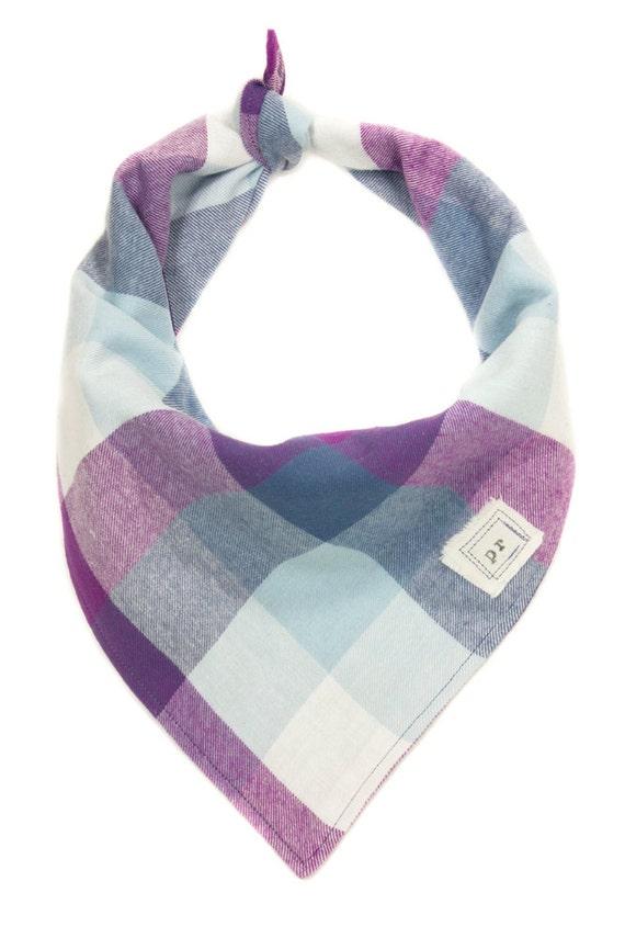 flannel pet bandana plaid flannel bandanas purple and