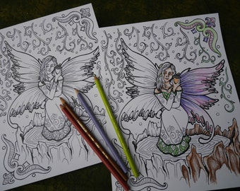 Fantasy-Inspired Printable Coloring Page - Fairy Maiden