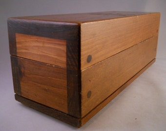 Wooden Storage Box Made in Maine, Small Wood Trinket Box Jewelry Box Vintage Wooden Box