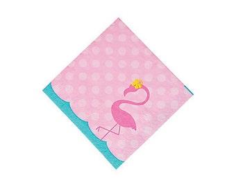 Sweet Flamingo Beverage Napkins / Flamingo theme