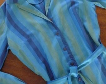 1960s Shirt Dress with Self Belt