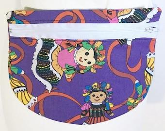 Mexican Rag Doll Fanny Pack - Folk Doll Fanny Pack - Fanny Pack - Waist Bag - Small Bag - Travel Bag - Travel Pouch - Belly Bag - Hip Bag