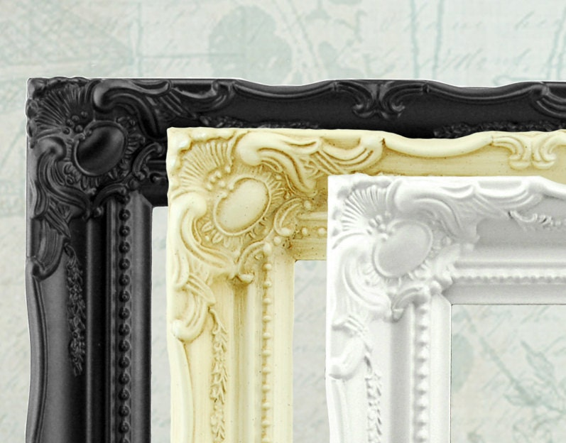 Shabby chic picture frame ornate frame vintage style for Bungalow style picture frames