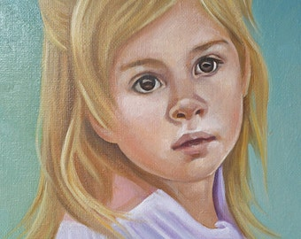 Custom portrait, oil painting, free shipping