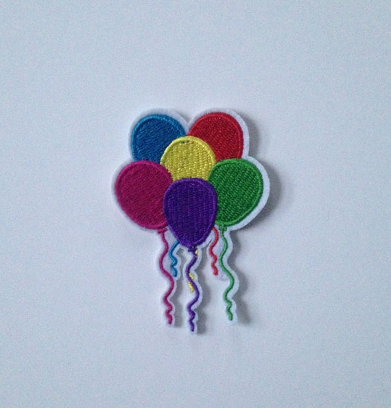 Colourful Balloons Iron on Patch