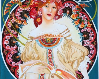 "Art Reproduction  - ""F.Champenois"" by Mucha"