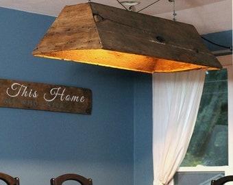 Barn wood Light.Hanging Light.Table Light.Kitchen Table Light.Pool Table Light.Light Fixture.Hanging Light.Home Decor (Barn Wood Light)