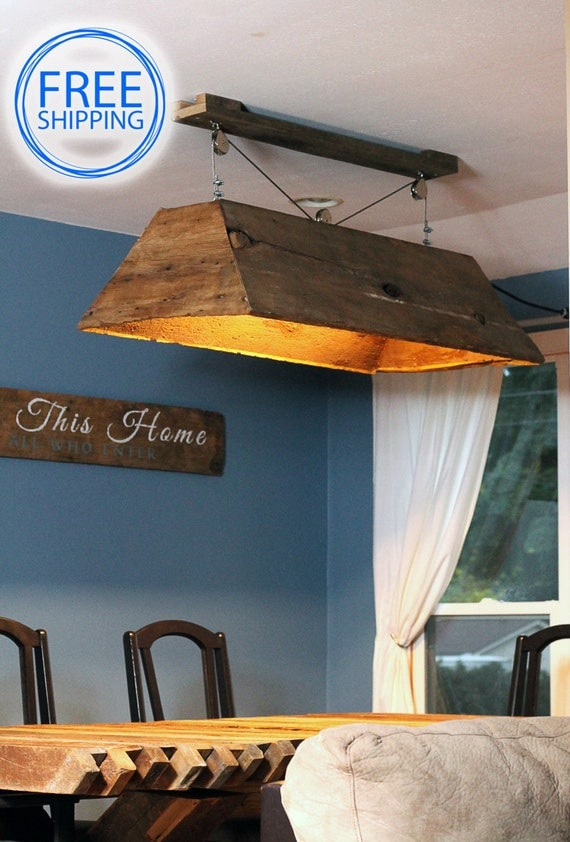 Barn Wood Light Hanging Light Table Light Kitchen By