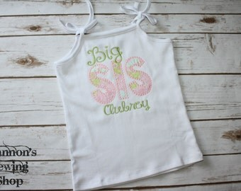 Big Sister Shirt - Big Sis - Older Sister Shirt - Sibling Shirts - Hospital Shirt for Big Sister