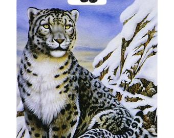 YaYtag - Trendy luggage ID tag - 2044 Snow Leopard