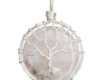 Rose Quartz Tree of Life Mini Wire Wrapped Tree of Life