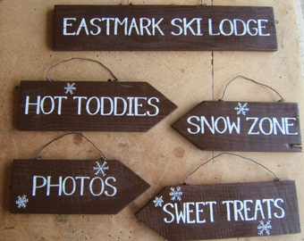 Rustic Custom Signs, Arrow Sign, Hand Painted Sign, Directional Sign, Rustic Wedding Sign, Custom Sign