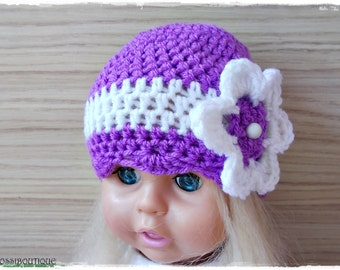 Crochet baby hat, Purple baby hat, Crochet girl hat, Purple Baby hat, Crochet toddler hat, Newborn hat, baby hat, Newborn baby Photo Prop