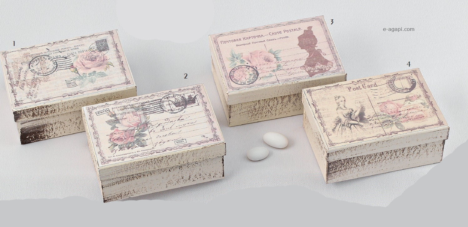 Wedding Bomboniere Gifts: Victorian Favors Box Wedding Bomboniere Greek Post Card Favors