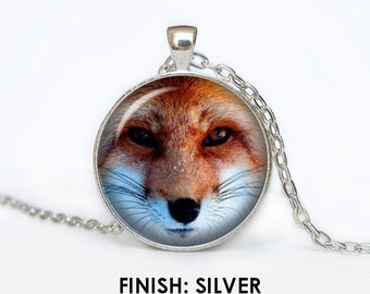 FOX Necklace, fox Jewelry, fox gift for women handmade, silver bronze black animal Pendant - Scodinzolo in the aid of animals