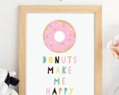 PRINTABLE.Donuts Make Me ...