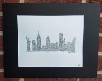 Black and White NYC Skyline
