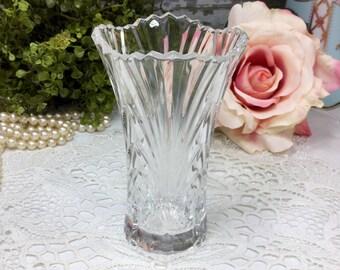 Clear Glass Bud Vase. Pencil Holder, Knick Knack for Wedding, Home Office Decor #464