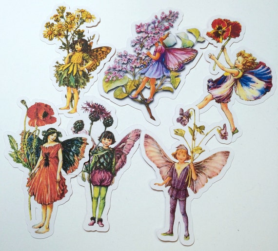 Paper Cut Outs - Flower Fairies,Die Cuts,Scrapbooking,Paper Embellishments, Die Cuts,Fairy Die Cuts,Fairy Cut Out,Flower Fairy