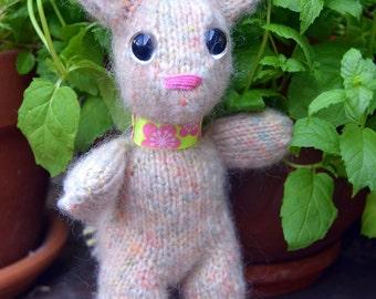 Fuzzy blush bunny