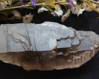 Smokey Quartz Point- Elestial Quartz