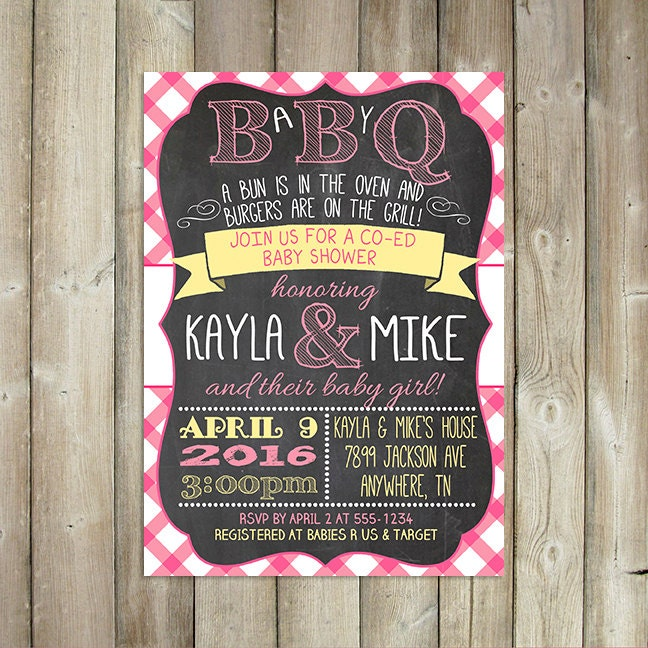 baby q | etsy, Baby shower invitations