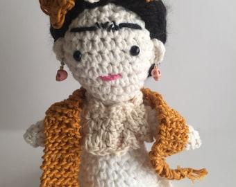 Frida, Frida Kahlo, Frida amigurumi, Frida doll,amigurumi doll