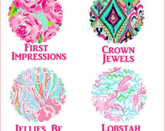 Floral Pattern Add On, Lilly Pulitzer inspired vinyl add on