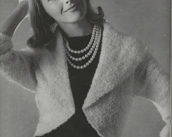 Womens Retro Shrug Knitting Pattern from 60s