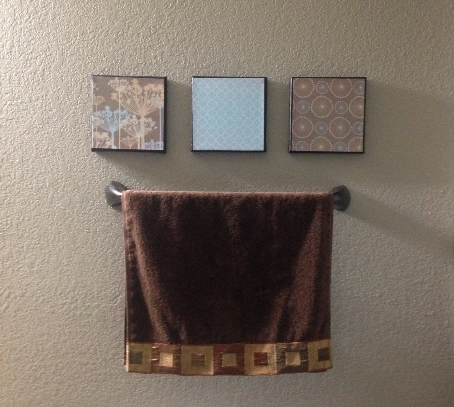 Bathroom Pictures And Canvases : Bathroom decor room canvas piece wall
