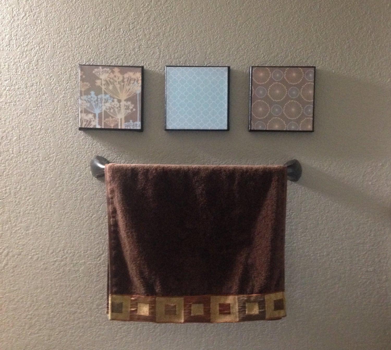 Bathroom decor room decor canvas decor 3 piece canvas wall for 3 piece bathroom designs