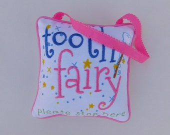 Pink Tooth Fairy Pillow, Tooth Pillow