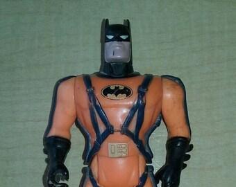 "BATMAN - Vintage 1993 DC Comics Kenner Orange Batman Action Figure 4.5"" tall Comic Book Superhero Super Hero Rare Loose Figure"