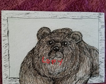 "ACEO Card ""Brother Bear"""