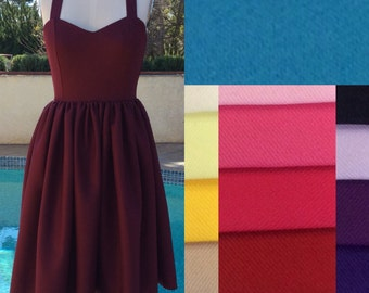 1950s dress / 50s dress/ bridesmaid dress / pinup dress / full skirt / midi dress / retro dress / circle skirt
