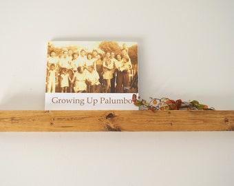 "Rustic Wood Floating 32"" Picture Shelf,book shelf- country decor,Craft Organizer, Display Shelf"