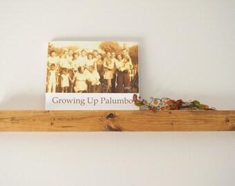 "Rustic Wood Floating 32"" Picture Shelf,book shelf- country decor,Craft Organizer, Display Shelf"