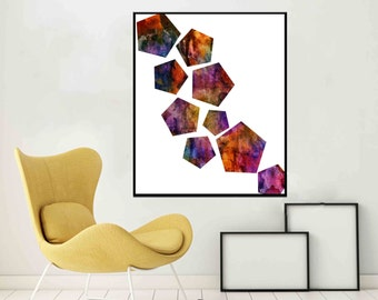 Abstract Wall Art Modern geometric print Mid Century Modern Art Print Home Decor Wall Art Minimalist Poster Living Room Decor