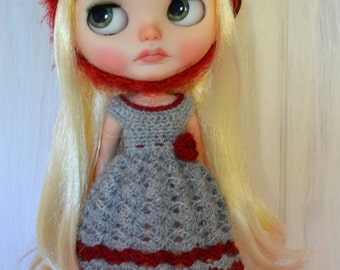 Set Blythe Dress and Hat in crochet!!!