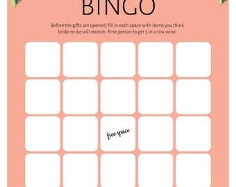 Bridal Shower Bingo! (Blank Sheet)