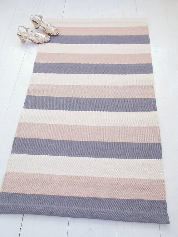 grau beige elfenbein gestreiften teppich teppich baumwolle, Hause ideen