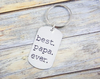 Gift for Papa - Fathers Day Gift - Papa Gift - Gift for Him - Papa Keychain - Dad Gift - Grandpa Gift - Gift for Dad - Dad Keychain