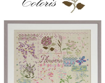 DMC 15276/22 Flowers Coloris Cross Stitch Chart Booklet