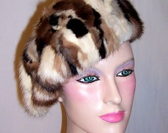 "Variegated Mink Beret by ""Fashions by Winter New York"""