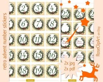 printable numbers 1 31 instant download advent calendar. Black Bedroom Furniture Sets. Home Design Ideas